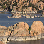 Rocks Of Watson Lake  Art Print