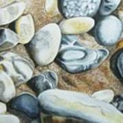 Rocks On Beach Art Print