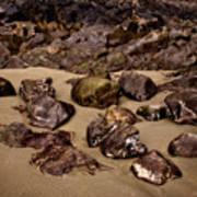 Rocks On The Beach Art Print