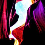 Rocks, Sunlight And Magical Colors Art Print
