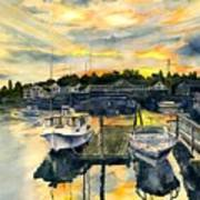Rocktide Sunset Art Print