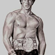 Rocky 3 Art Print by Michael Mestas