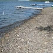 Rocky Beach On A Lake Art Print