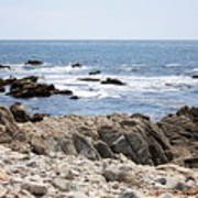 Rocky California Coastline Art Print