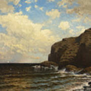 Rocky Coast With Breaking Wave Art Print