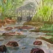 Rocky Creek In The Catskills  Art Print
