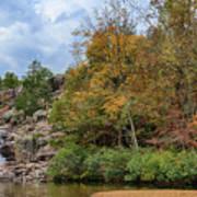 Rocky Falls In The Fall Art Print