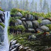 Rocky Falls Art Print