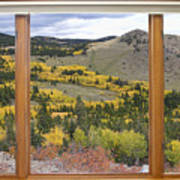 Rocky Mountain Autumn Picture Window View Art Print