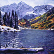 Rocky Mountain Serenity Print by David Lloyd Glover