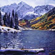 Rocky Mountain Serenity Art Print by David Lloyd Glover