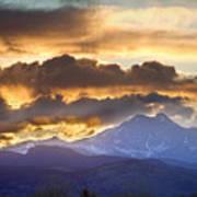 Rocky Mountain Springtime Sunset 3 Art Print