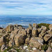 Rocky Mountain Summit Overlooking Beautiful Vally Art Print
