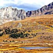 Rocky Mountain Tundra And Lake Art Print