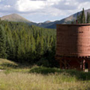Rocky Mountain Water Tower Art Print