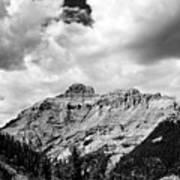 Rocky Mountains Of Colorado  Black And White Art Print