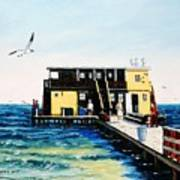Rod And Reel Fishing Pier Art Print
