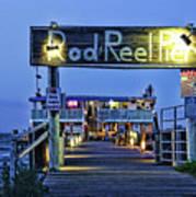 Rod And Reel Pier Art Print