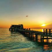 Rod And Reel Pier Sunrise 2 Art Print