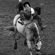 Rodeo Bareback Riding 13 Art Print
