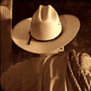 Rodeo Cowboy Art Print