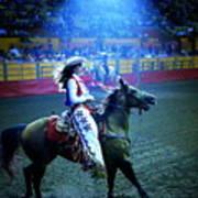 Rodeo Queen In The Spotlight Art Print