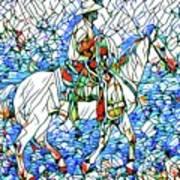 Rodeo Wrangler Mosaic Art Print
