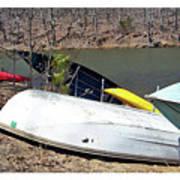 Rowboats Ashore  Art Print