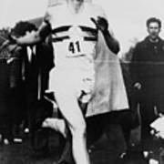 Roger Bannister Crossing The Finish Art Print