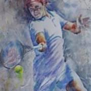 Roger Federer - Portrait 8 Art Print