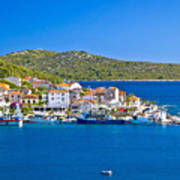 Rogoznica Harbor And Waterfront View Art Print