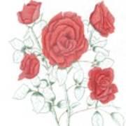 Rojo Cinco Art Print
