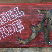Roll Tide - Large Art Print by Racquel Morgan
