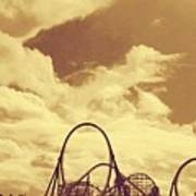 Roller Coaster Rides Art Print