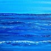 Rolling Blue, Triptych 2 Of 3 Art Print
