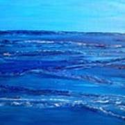 Rolling Blue, Triptych 3 Of 3 Art Print