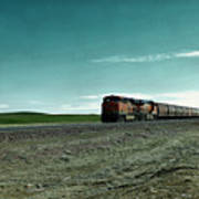 Rolling Freight Train Art Print