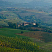 Rolling Hills Of The Piemonte Region Art Print