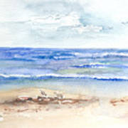 Rolling Waves Beach Art Print