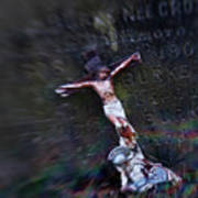 Roman And Crucifix Art Print by Susan Isakson