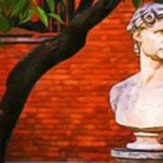 Roman Bust, Loyola University Chicago Art Print