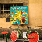 Roman Cafe' Art Print by Denise Darby
