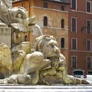 Roman Fountain  Art Print