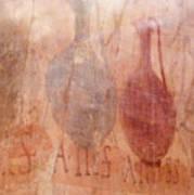 Roman Fresco Of Drink Pitchers, Herculaneum, Italy Art Print