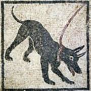 Roman Guard Dog Mosaic Print by Sheila Terry