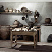 Roman Kitchen, 100 A.d Art Print