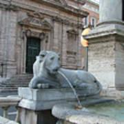 Roman Lion Art Print