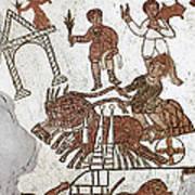 Roman Mosaic: 5th Century Art Print