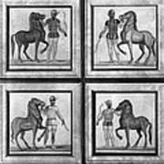 Roman Mosaic: Charioteers Art Print