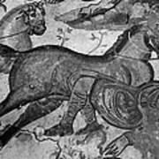 Roman Mosaic: Man & Horse Art Print